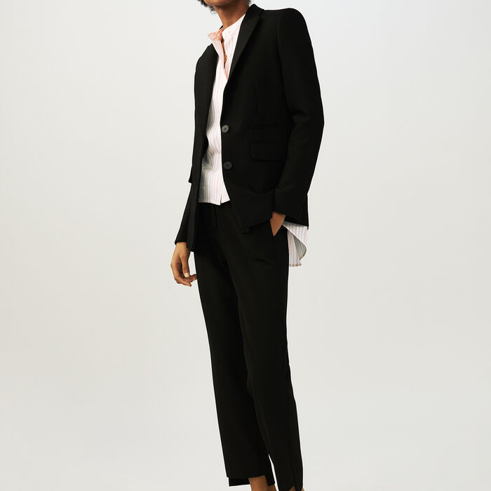 Tailored crepe jacket : Blazers color Black 210