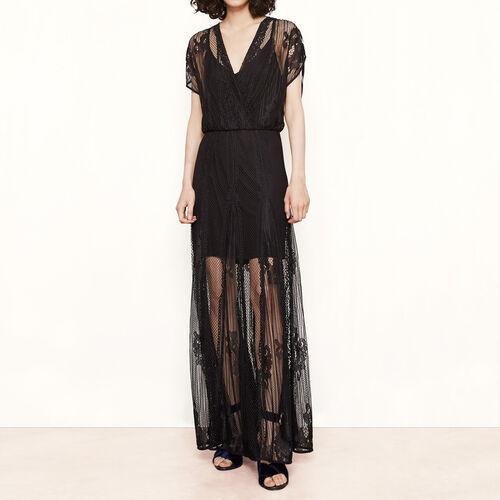 Long lace dress : Dresses color Black 210