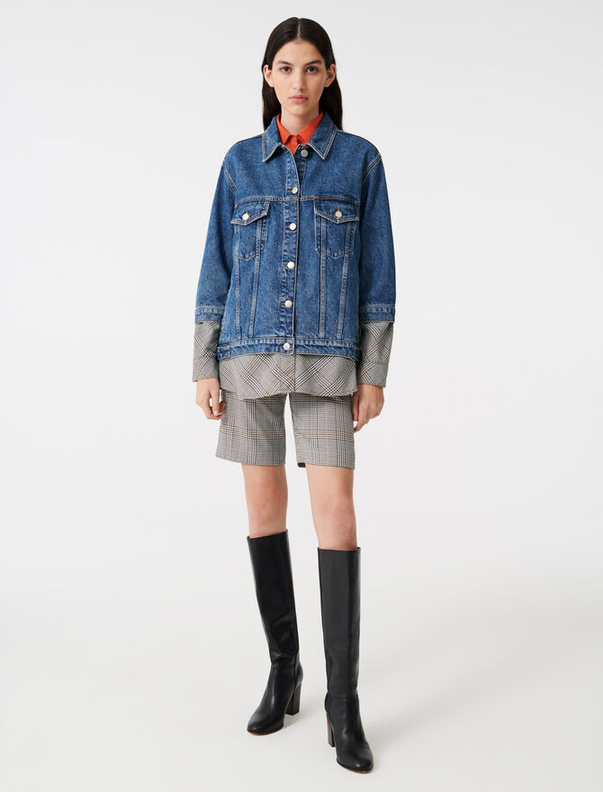 Denim trompe l'oeil jacket - Coats & Jackets - MAJE