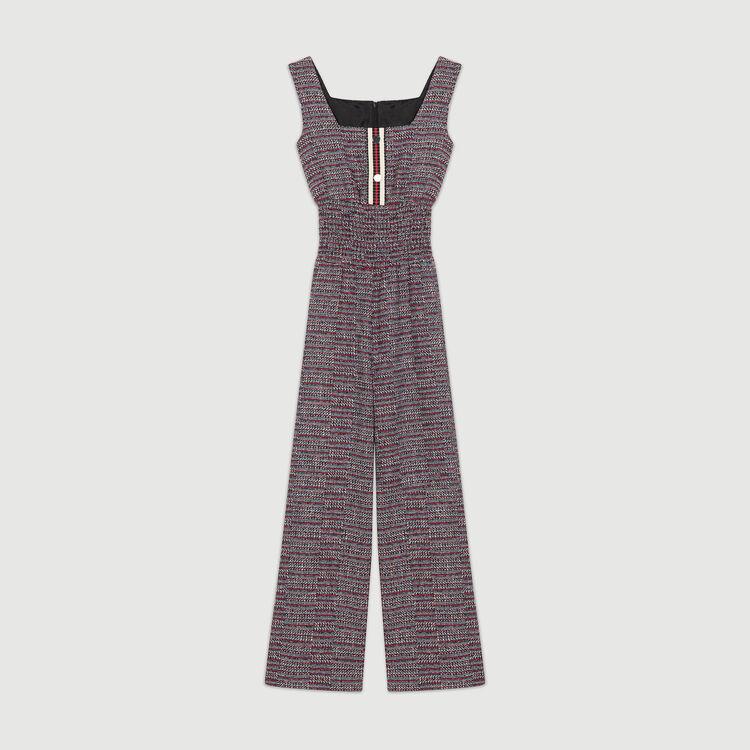 Tweed jumpsuit : Jumpsuits color Jacquard