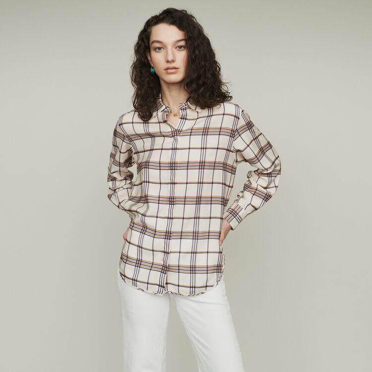 Plaid loose shirt : Tops & Shirts color CARREAUX