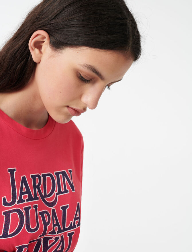 Silkscreen printed T-shirt - T-Shirts - MAJE