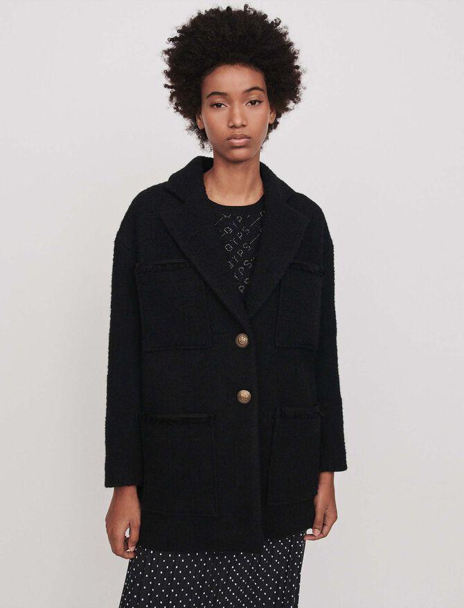 Tweed-style coat -  - MAJE