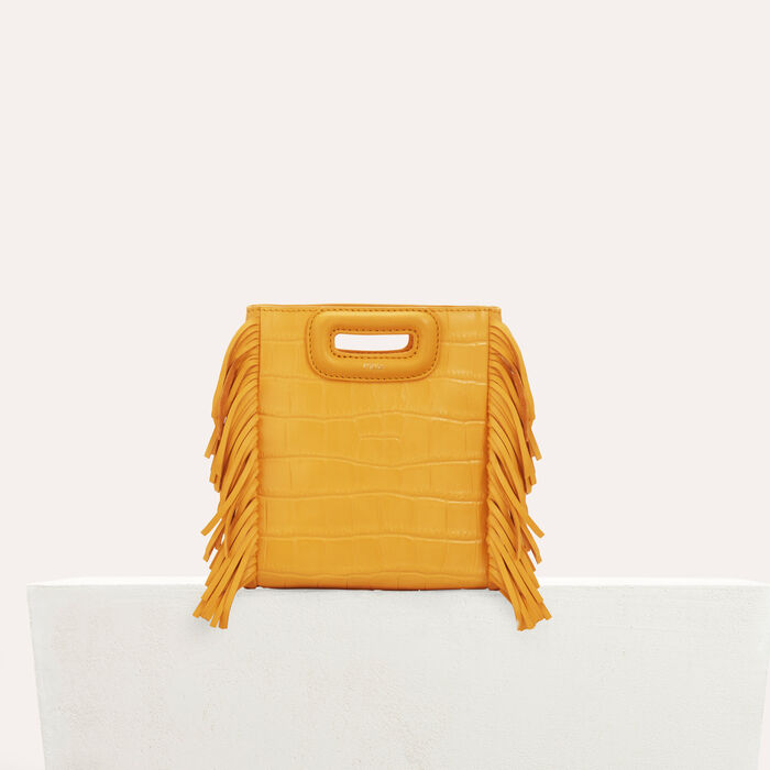 Mini M bag with crocodile fringe : M Mini color Yellow