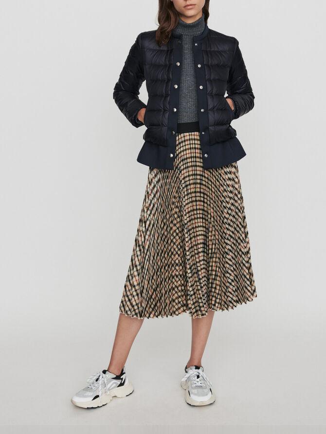 Light puffer coat wih Neoprene trim - Jackets & Blazers - MAJE