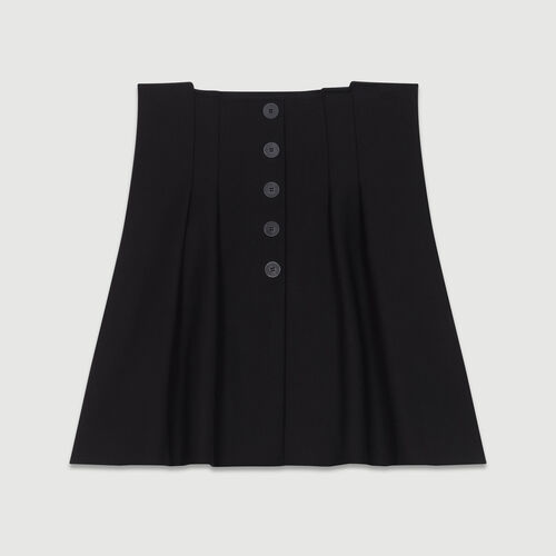Short pleated skirt : Skirts & Shorts color Black 210