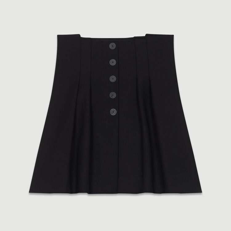 Short pleated skirt : Ready to wear color Black 210