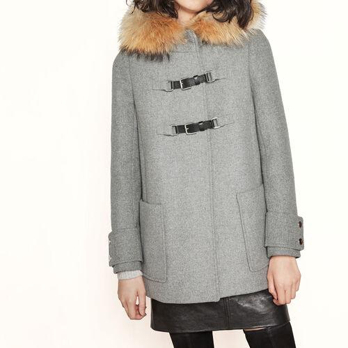 Wool A-line coat : Coats color China Grey