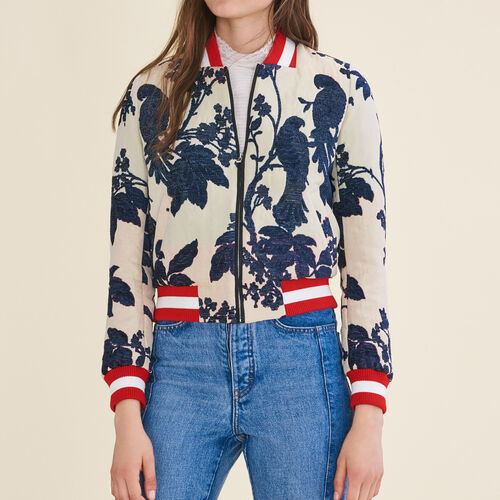 Jacquard varsity jacket : Blazers & Jackets color Jacquard