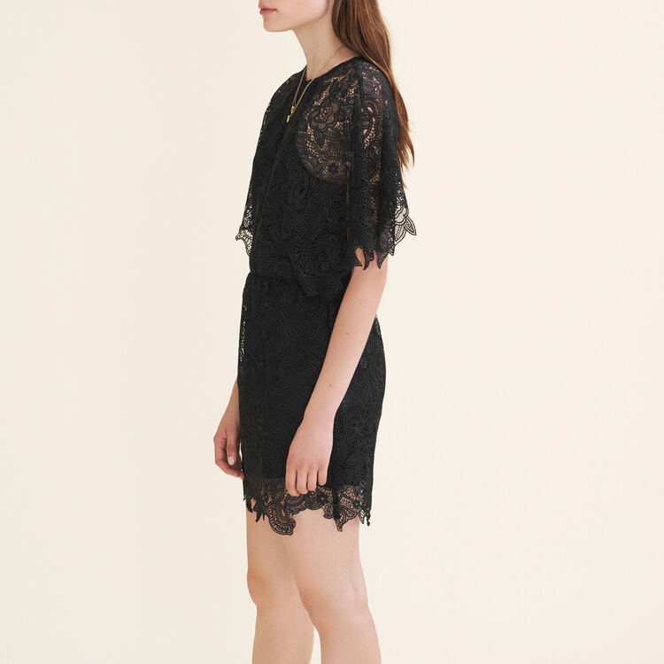 Short guipure dress : Dresses color Black 210