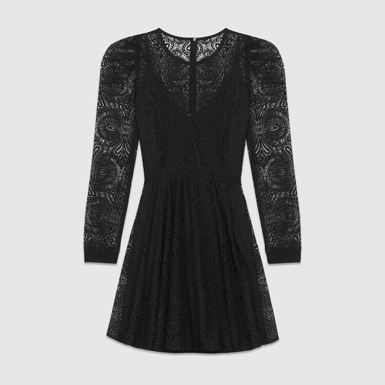 Lace skater dress : New Collection color Black 210