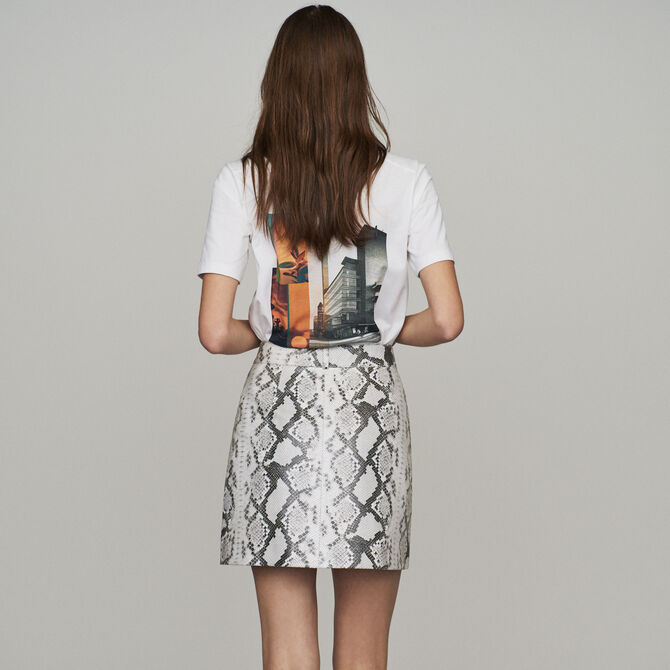 Short skirt in leather - Skirts & Shorts - MAJE