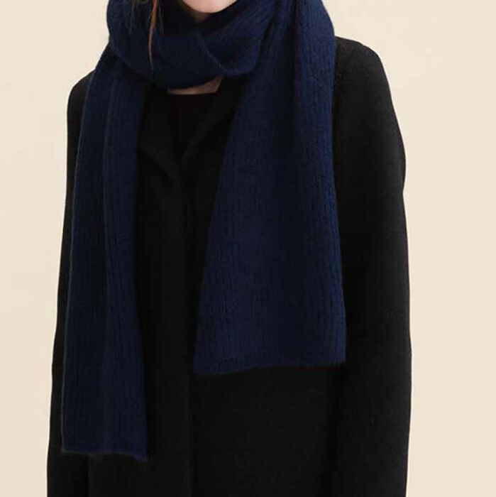 Wool blend scarf : Accessoires color Navy