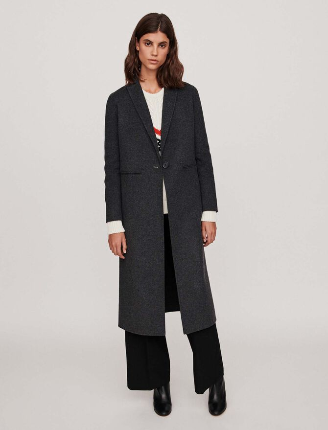 Patched sleeveless shearling - Coats - MAJE