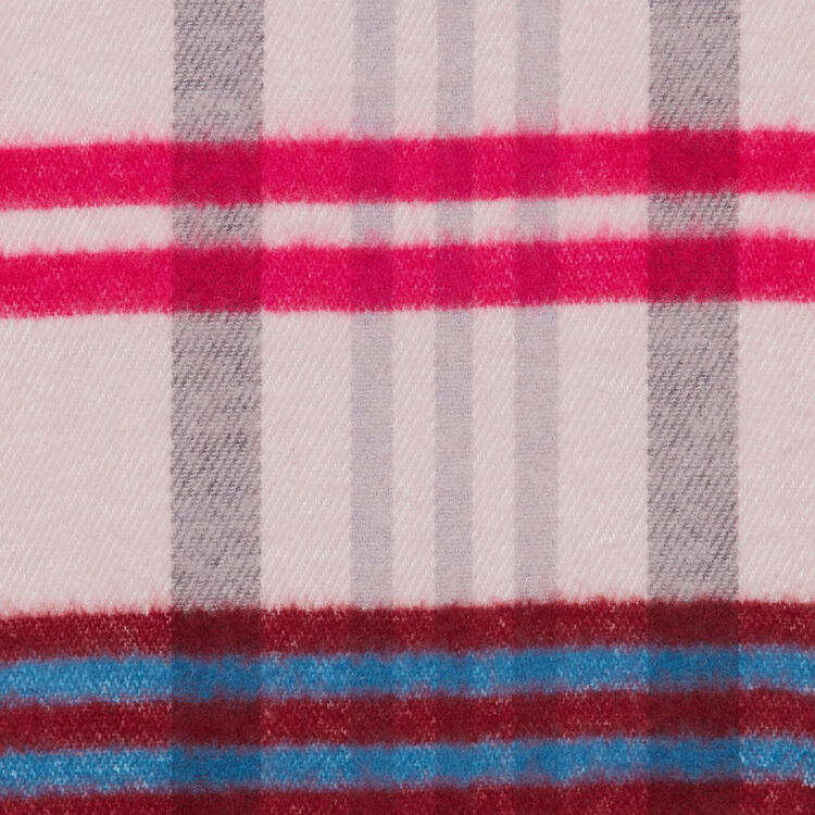 Plaid knit scarf : Shawls & Ponchos color Pink