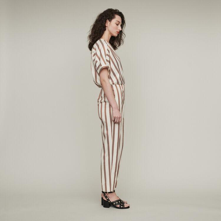 Striped jumpsuit : Trousers & Jeans color Stripe