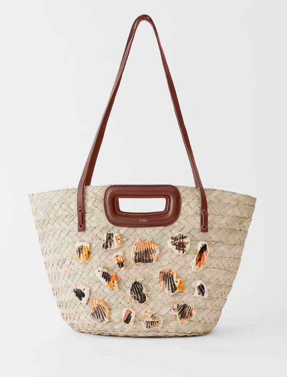 Woven basket with ceramic details - All bags - MAJE