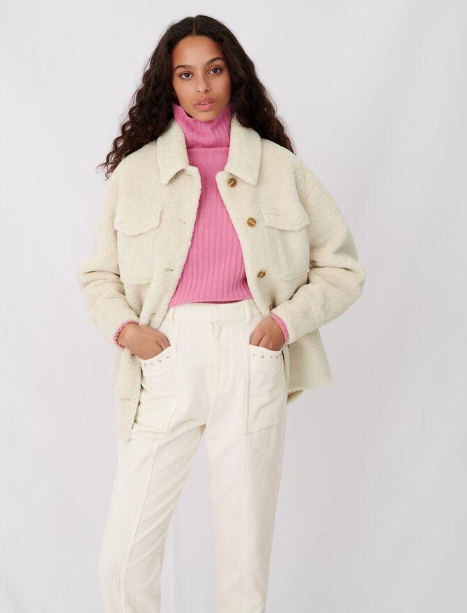 Overshirt-style ecru jacket - Blazers - MAJE