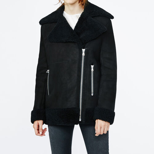 Faux treated sheepskin jacket : Blazers & Jackets color Black 210