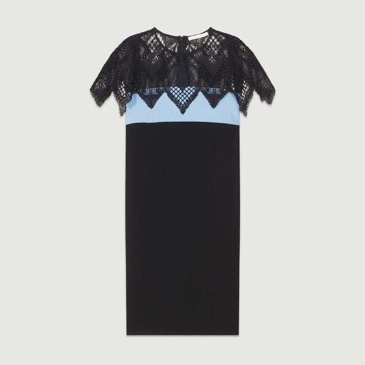 Two-tone dress with lace detail : Dresses color BLUE/SKY BLUE