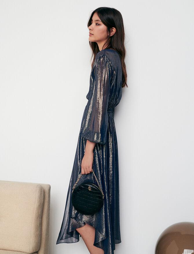 Asymmetric animal print dress - tout - MAJE