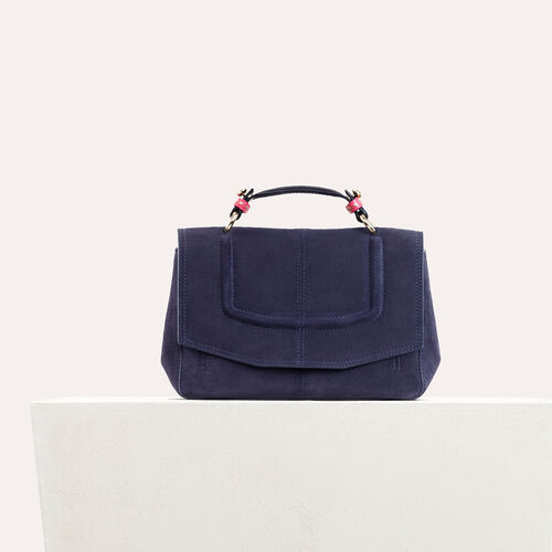 Mini satchel in two-tone suede : -40% color Black 210