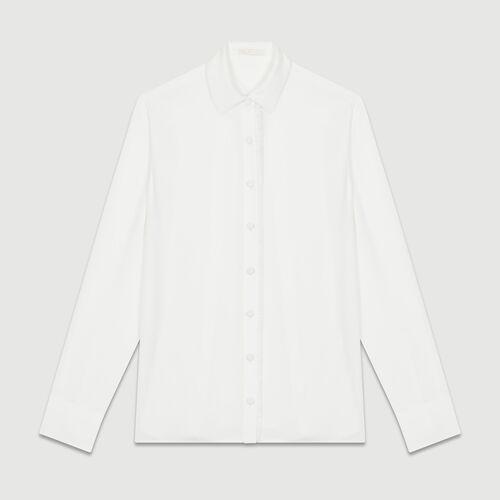 Flowing long-sleeved shirt : Shirts color Ecru