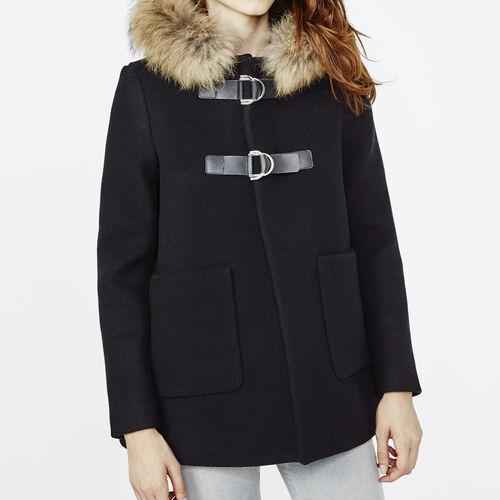 A-line coat : Coats color Black 210