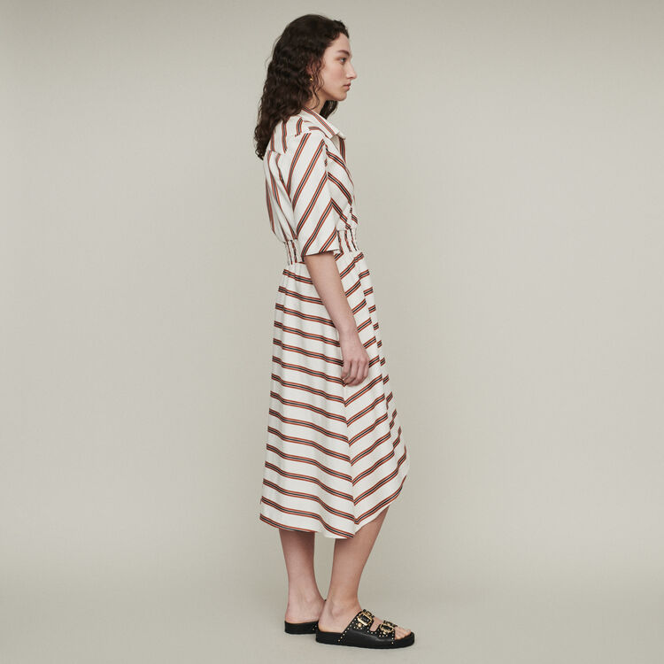 Long striped shirt dress : Dresses color Stripe