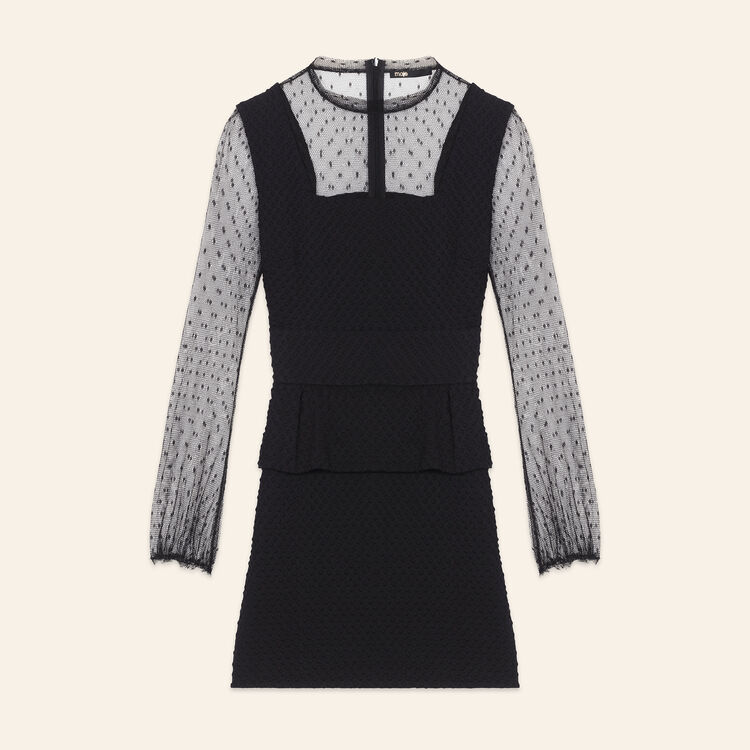 ROSIE Dual-material dotted Swiss dress - Dresses - Maje.com d10c23839