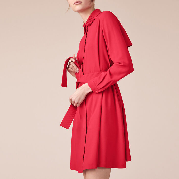 Crêpe shirt dress -  - MAJE