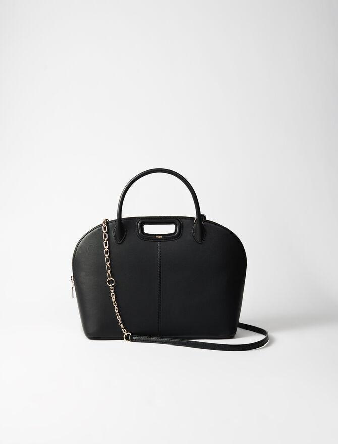 Large smooth leather handbag -  - MAJE