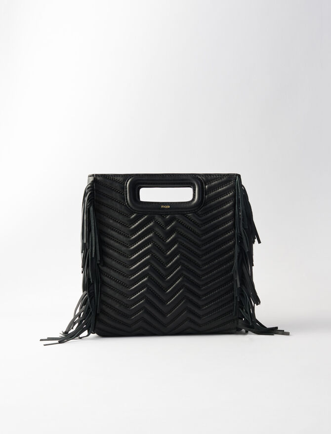Quilted leather M bag -  - MAJE