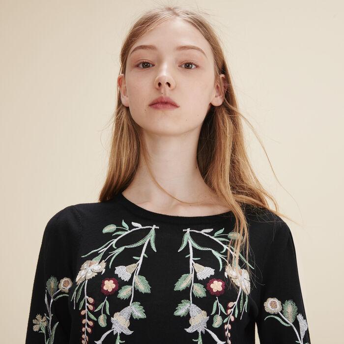 Embroidered jumper -  - MAJE