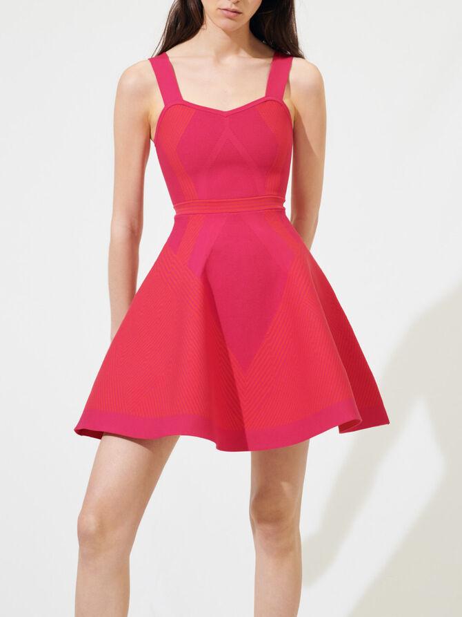 Knit sporty-couture dress - Dresses - MAJE
