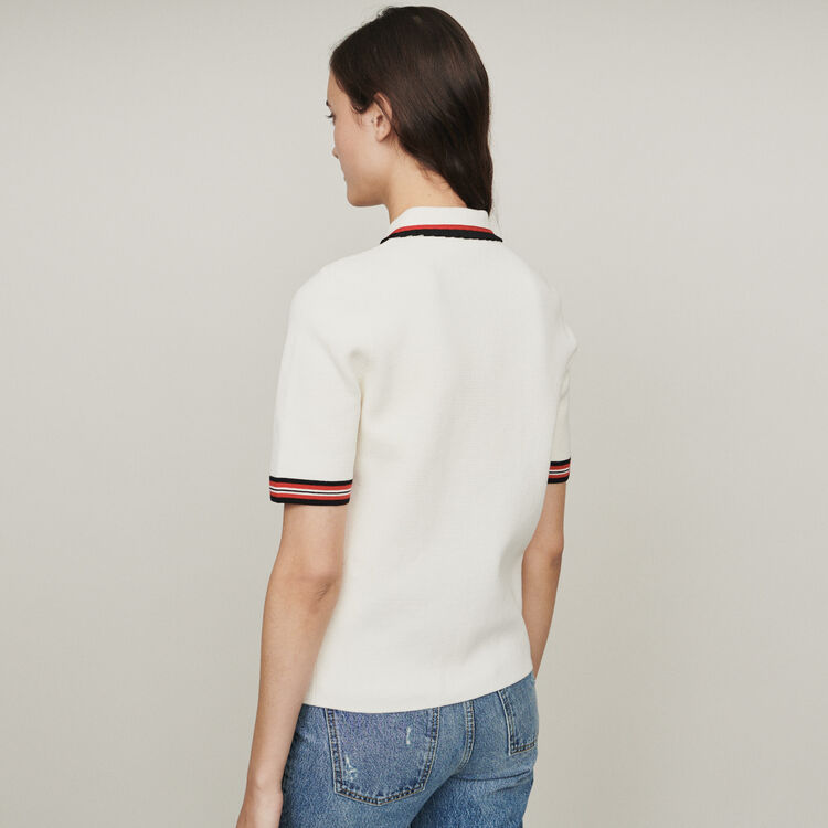 Block-knit polo : New in : Summer Collection color ECRU