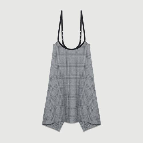 Strappy jacquard dress : Dresses color CARREAUX