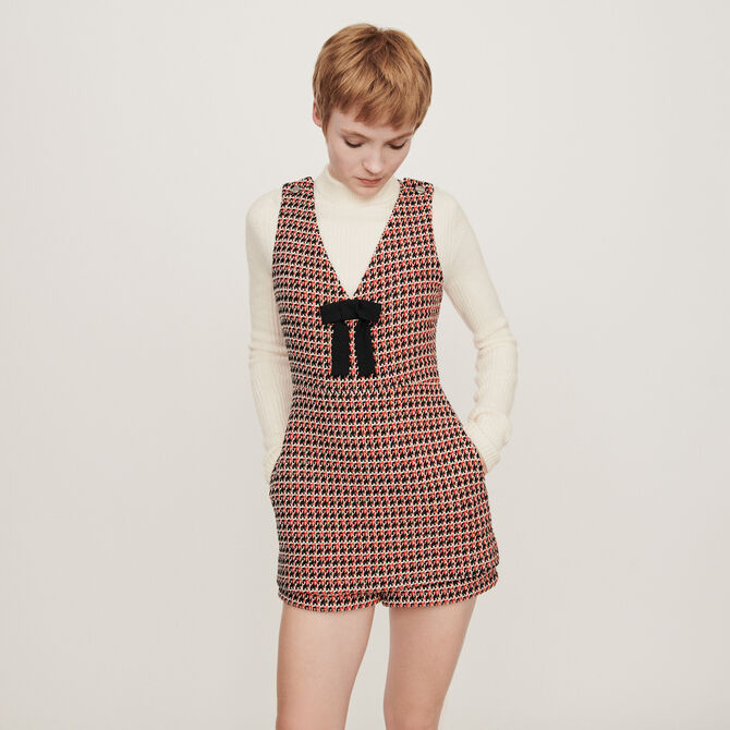 Tweed-style playsuit -  - MAJE