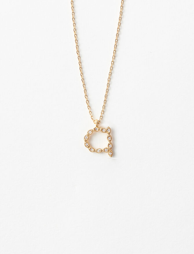 Rhinestone A necklace -  - MAJE