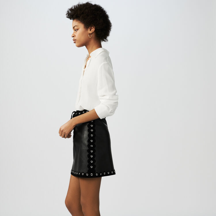 Short leather skirt : See all color Black 210