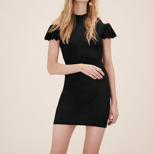 Stretch knit dress : Dresses color Black 210