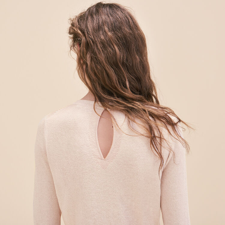 Fine knit jumper with lurex : 60% off color Nude