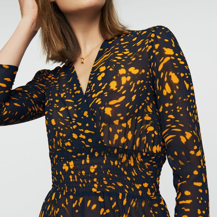 Printed asymmetric dress : Dresses color PRINTED