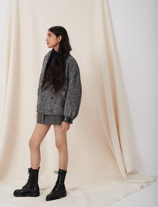 Marl blouson-style coat - The Mood - MAJE
