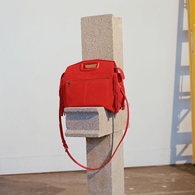 MWALK bag with leather fringe : M Walk color Red