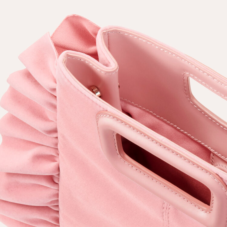Frilled velvet M bag : New markdown color Pink