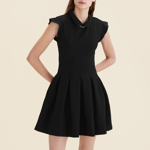 Pleated crêpe dress - Dresses - MAJE