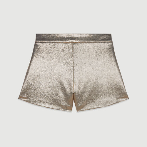 Lurex silk shorts : Campaign SS19 color Gold