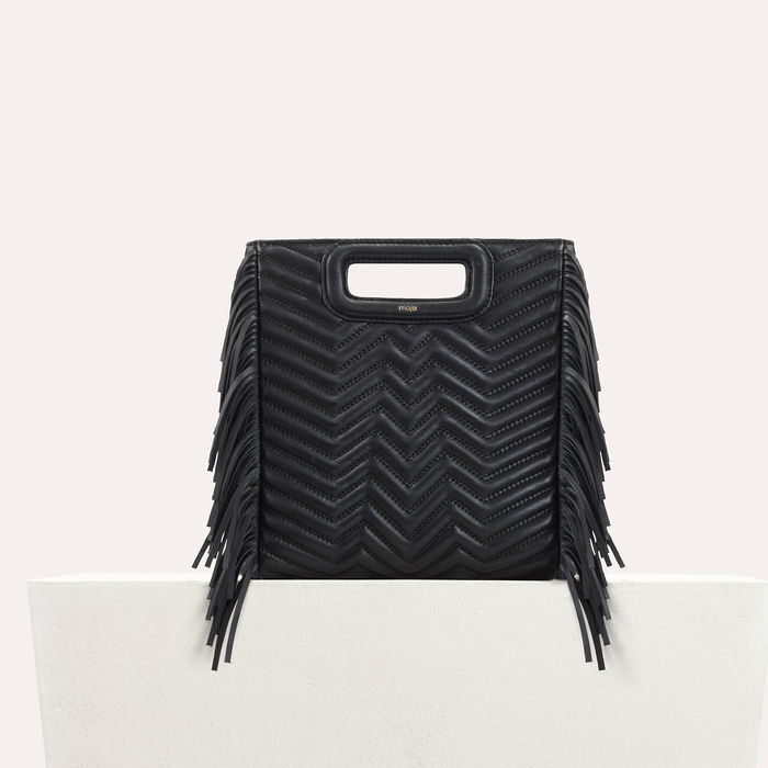 Quilted leather M bag : M bag color Black 210