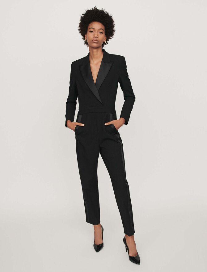 Tuxedo-style jumpsuit - SoldesBE_30 - MAJE